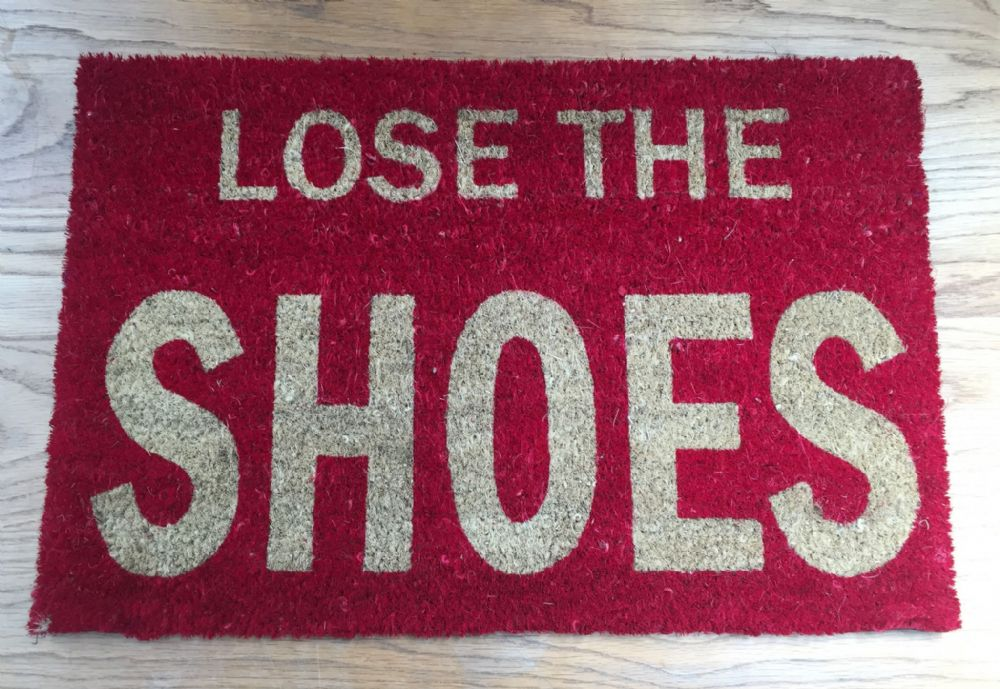 LOSE THE SHOES ~ Indoor / Outdoor Coir Doormat - RED